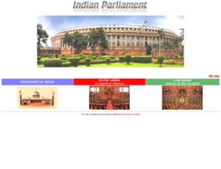 parliamentofindia.nic.in screenshot