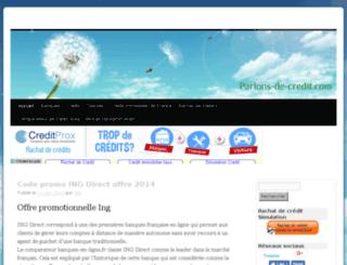 parlons-de-credit.com screenshot