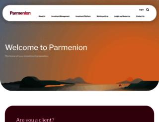parmenion.co.uk screenshot