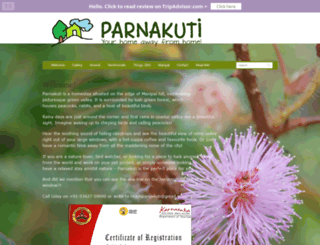 parnakutihomestay.com screenshot