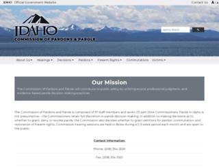 parole.idaho.gov screenshot
