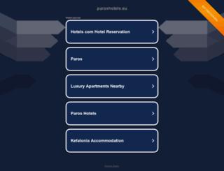 paroshotels.eu screenshot
