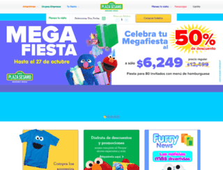 parqueplazasesamo.com screenshot