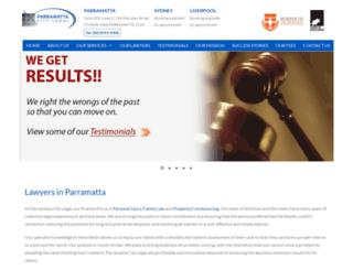 parramattacitylegal.com.au screenshot
