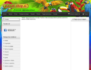 parrot-shop.si screenshot