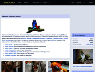 parrotforums.com screenshot