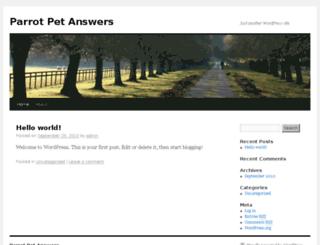 parrotpetanswers.com screenshot