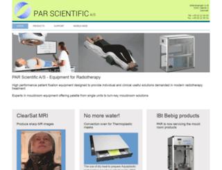 parscientific.com screenshot
