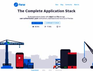 parse.com screenshot