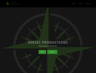 parsecproductions.net screenshot