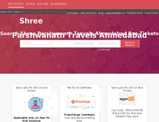 parshwanath-travels.redbus.in screenshot