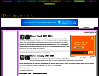 parsimonious.org screenshot