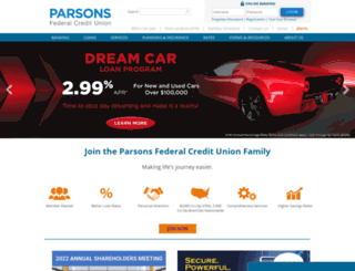 parsonsfcu.org screenshot