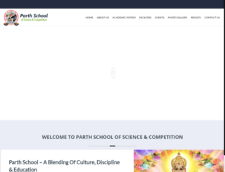parthschool.org screenshot