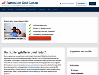 particulier-geld-lenen.nl screenshot