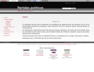 partidospoliticos.wikidot.com screenshot