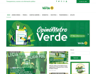 partidoverde.org.co screenshot