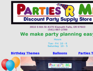 partiesrme.com screenshot