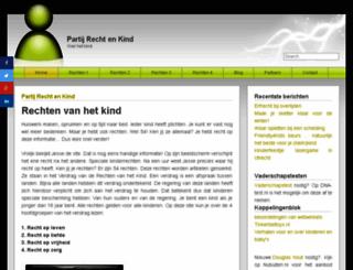 partijrechtenkind.nl screenshot