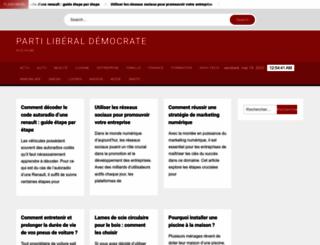 partiliberaldemocrate.fr screenshot