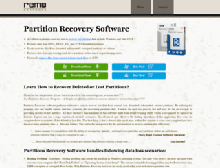 partitionsrecovery.com screenshot
