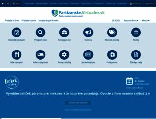 partizanske.virtualne.sk screenshot