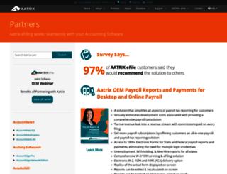 partner.aatrix.com screenshot