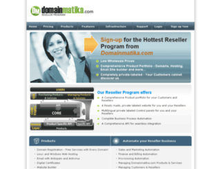 partner.domainmatika.com screenshot