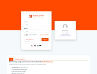 partner.kokiskashop.cz screenshot