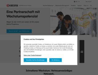 partner.kyoceradocumentsolutions.de screenshot