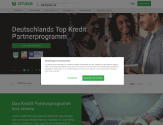 partner.smava.de screenshot