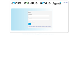 partnercenter.novusmediainc.com screenshot