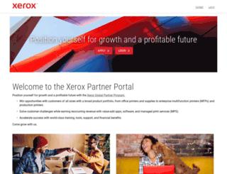 partnerportal.xerox.com screenshot