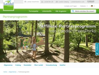 partnerprogramm.landal.de screenshot