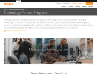 partners.arubanetworks.com screenshot