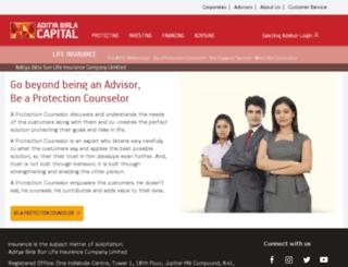 partners.birlasunlife.com screenshot
