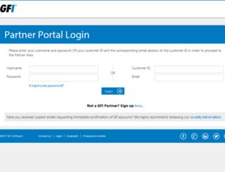 partners.gfi.com screenshot