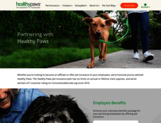partners.healthypawspetinsurance.com screenshot