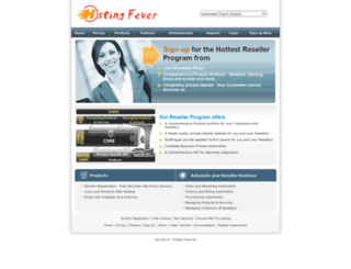 partners.hostingfever.in screenshot