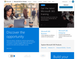 partners.office.com screenshot