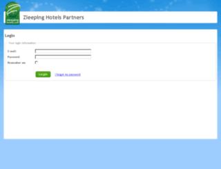 partners.zleepinghotels.com screenshot