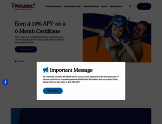 partnersfcu.org screenshot