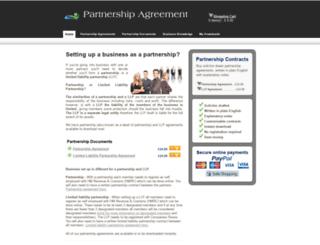 partnership-agreement.co.uk screenshot