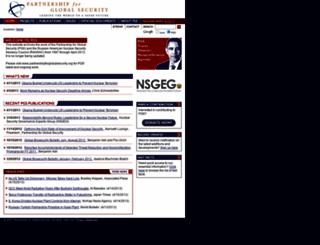 partnershipforglobalsecurity-archive.org screenshot