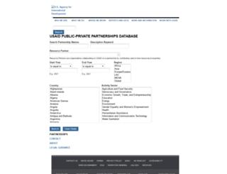 partnerships.usaid.gov screenshot
