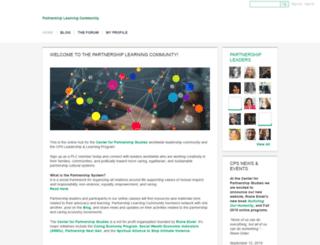 partnershipway.ning.com screenshot