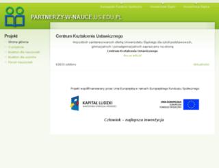 partnerzy-w-nauce.us.edu.pl screenshot