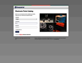 parts.husqvarna.com screenshot