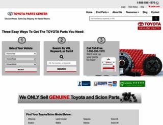 parts.olathetoyota.com screenshot