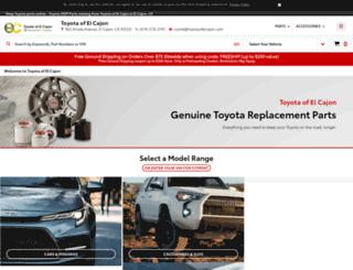 parts.toyotaofelcajon.com screenshot